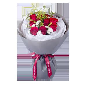 鲜花/一往情深:11枝精品红玫瑰 花 语:疼爱你,保护你,一往情深