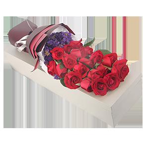 鲜花/我只钟情你:19枝精品红玫瑰精美礼盒包装 祝 愿:至死不渝的爱