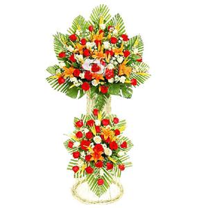 商业用花/财源若海:红玫瑰 扶郎花 高级配花 花 语:财源若海