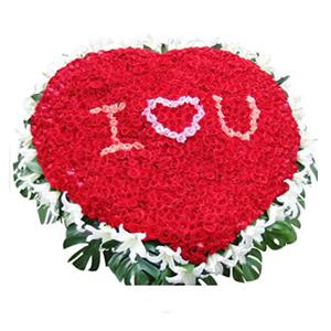 鲜花/I LOVE YOU:999枝红玫瑰(中间桃红玫瑰和粉玫瑰包含在内),40