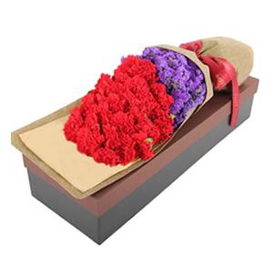 鲜花/最温柔的关爱: 33支红色康乃馨  [包 装]:长方形高级礼