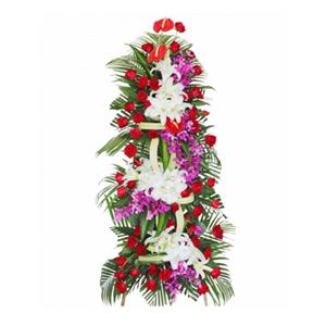 商业用花/财源滚滚:财源滚滚 花 语:白百合 红玫瑰 高级配花