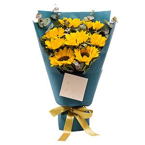 鲜花/虔诚的祝福:8朵精品向日葵 花 语:活泼阳光,积极向上,快乐生