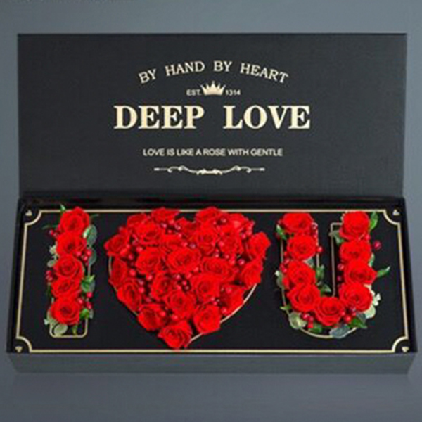 鲜花/与子偕老心愿盒:精品红玫瑰网红款 花 语:I LOVE YOU