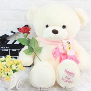 毛绒玩具/围巾泰迪熊(粉色): 外部高档超柔软毛绒,内部优质PP棉,手感细腻蓬