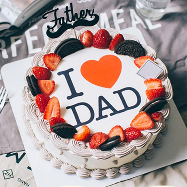 蛋糕/帅气老爸:巧克力的苦涩搭配奶油醇香,新鲜水果味全点缀 祝 愿
