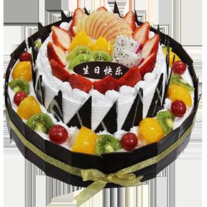 蛋糕/甜蜜堡垒:超过水果铺面+巧克力贴片 祝 愿:用心呵护你,用爱