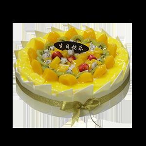 蛋糕/热情仲夏:巧克力贴片+清脆可口水果铺面 祝 愿:欢乐,尖叫,