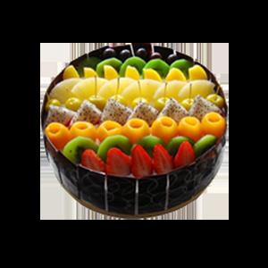 蛋糕/美丽新世界:超多美味水果+巧克力贴片。鲜奶口味 祝 愿:美丽世