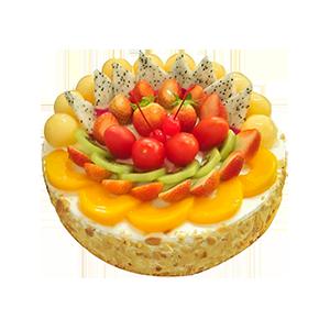 蛋糕/今天你要嫁给我:美味鲜奶搭配超多水果 祝 愿:爱你在每一个阳光明媚