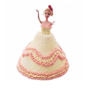 蛋糕/【芭比蛋糕】最是温柔: 芭比娃娃鲜奶蛋糕  [包 装]:购买蛋糕附送