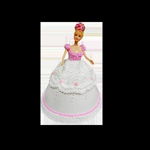 蛋糕/【芭比蛋糕】只为等你:鲜奶鸡蛋胚+芭比造型 祝 愿:愿公主的笑容永远洋溢