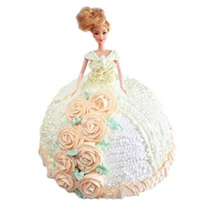 蛋糕/【芭比蛋糕】永远有你: 芭比娃娃鲜奶蛋糕  [包 装]:购买蛋糕附送
