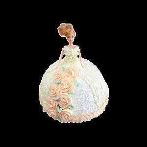 蛋糕/【芭比蛋糕】永远有你:鲜奶鸡蛋胚+芭比造型 祝 愿:为你穿上最美的婚纱