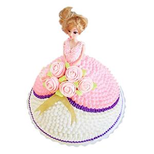 蛋糕/【芭比蛋糕】爱情印象: 芭比娃娃鲜奶蛋糕  [包 装]:购买蛋糕附送