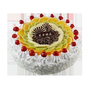 蛋糕/雪上诱惑:鲜奶鸡蛋胚+新鲜时令水果造型 祝 愿:怀念是你我相