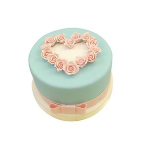 蛋糕/【翻糖蛋糕】倾心相遇: 翻糖蛋糕(需提前预定)  [包 装]:购买蛋