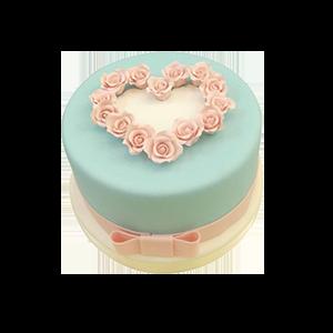 蛋糕/【翻糖蛋糕】倾心相遇:鲜奶鸡蛋胚+别致翻糖造型 祝 愿:爱心蛋糕翻糖礼盒