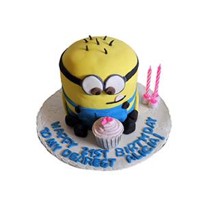 蛋糕/【翻糖蛋糕】魅力小黄人: 翻糖蛋糕(需提前预定)  [包 装]:购买蛋