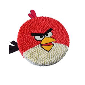 蛋糕/愤怒的小鸟: 愤怒的小鸟形状奶油蛋糕  [包 装]:购买蛋