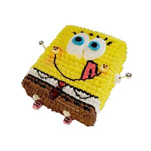蛋糕/海绵宝宝的秘密: 海绵宝宝形状鲜奶艺术蛋糕  [包 装]:购买