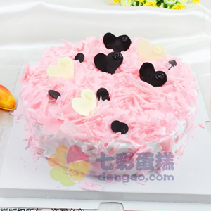 蛋糕/粉色甜心:鲜奶鸡蛋胚+巧克力装饰 祝 愿:在这阳光明媚的日子