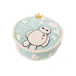 蛋糕/萌神大白: 圆形奶油蛋糕,大白图案生动可爱。  [包 装