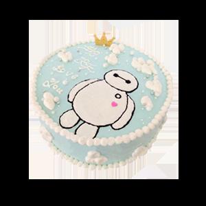 蛋糕/萌神大白:鲜奶鸡蛋胚+优质奶油 祝 愿:想大白一样温暖你,陪