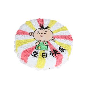 蛋糕/大耳朵图图: 圆形卡通蛋糕,水果夹层戚风胚  [包 装]: