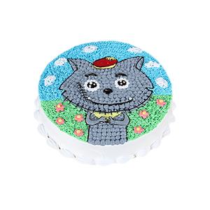 蛋糕/灰太狼: 圆形鲜奶蛋糕,儿童卡通蛋糕,柔软水果夹层戚风胚