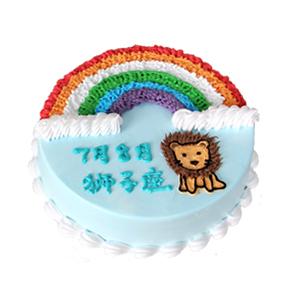 蛋糕/狮子座专属蛋糕: 圆形鲜奶蛋糕,狮子座蛋糕  [包 装]:高档