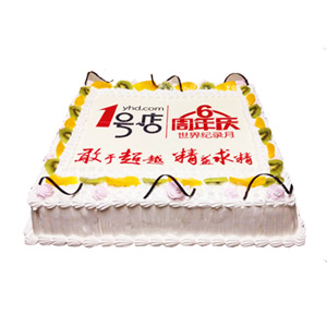 蛋糕/庆典蛋糕: 新鲜奶油,可食用糯米纸,打印任意所需图片