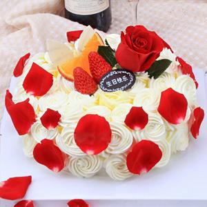蛋糕/玫瑰色恋人: 祝 愿: 保 存:0-4°C保存1天,4小时内