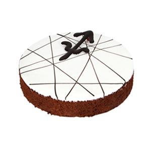蛋糕/射手座专属蛋糕: 匠心设计射手座蛋糕,新鲜奶油铺面,鸡蛋牛奶巧克
