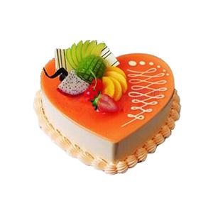 蛋糕/爱之舞: 心形乳酪芝士蛋糕,时令水果装饰(请提前2-3天