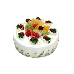 蛋糕/幸福密码: 圆形水果蛋糕,时令水果装饰,白色巧克力围边