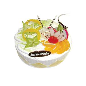 蛋糕/清凉一夏: 圆形鲜奶水果蛋糕,时令水果  [包 装]:购