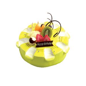 蛋糕/开心每一天: 圆形鲜奶水果蛋糕,时令水果装饰  [包 装]