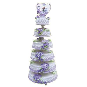 蛋糕/紫色年华: 六层鲜奶蛋糕,紫色鲜奶玫瑰花装饰  [包 装