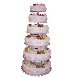 蛋糕/幸福如意: 六层鲜奶水果蛋糕,时令水果  [包 装]:购