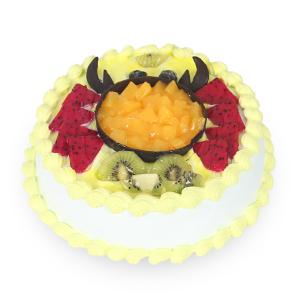 蛋糕/巨蟹座专属蛋糕: 新鲜奶油搭配时令水果  [包 装]:高档礼盒