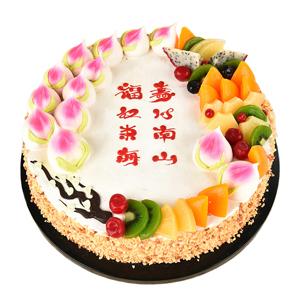 蛋糕/福禄寿来: 新鲜奶油搭配时令水果  [包 装]:高档礼盒