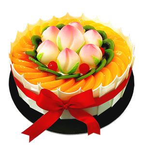 蛋糕/福寿齐天: 新鲜奶油搭配时令水果  [包 装]:高档礼盒