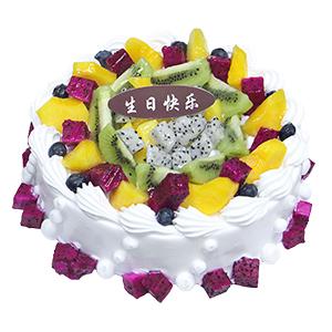 蛋糕/好运连连: 新鲜奶油搭配时令水果  [包 装]:高档礼盒