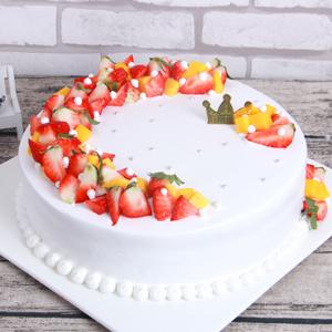 蛋糕/节日花环: 新鲜芒果,草莓,新鲜奶油(时令水果根据季节调整