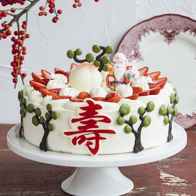 蛋糕/福寿绵延: 鸡蛋、新鲜奶油、草莓(时令水果根据季节调整)