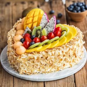 蛋糕/相爱一生: 巧克力、奶油、哈密瓜、奇异果、圣女果、火龙果、