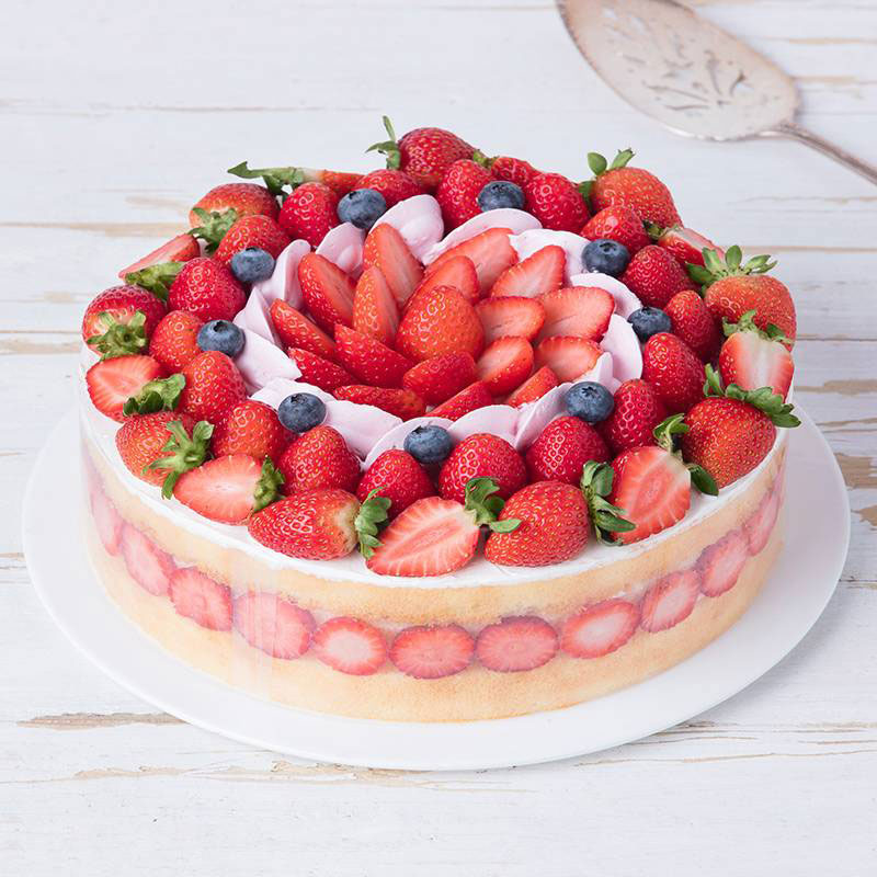 蛋糕/幸福城堡: 草莓、蓝莓、鸡蛋、奶油  [包 装]:高档礼