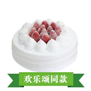 蛋糕/欢乐颂: 圆形鲜奶蛋糕,时令水果  [包 装]:购买蛋