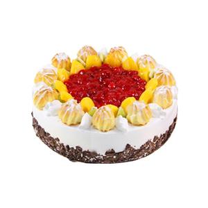 蛋糕/泡芙奶酪: 圆形鲜奶水果、泡芙蛋糕,鲜奶泡芙、水果铺面,巧